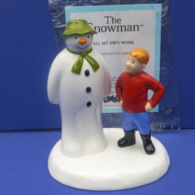 Coalport Snowman - All My Own Work - Boxed