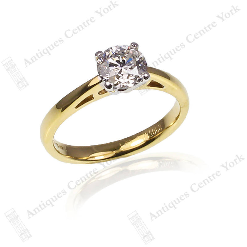 Certified 18ct Diamond 1.03ct Solitaire Ring