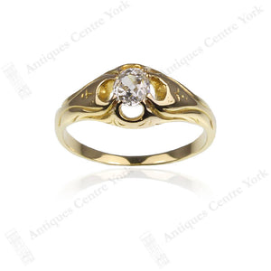 Art Nouveau 18ct Diamond 0.40ct Solitaire Ring