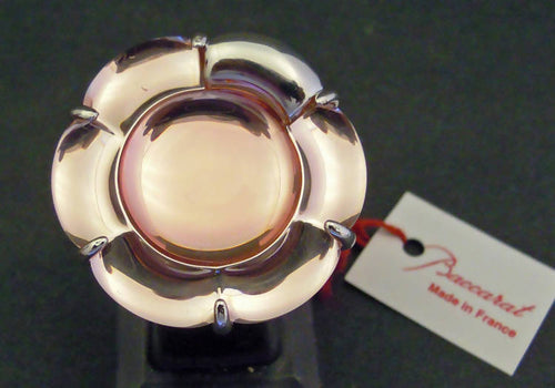 Baccarat flower ring, size O