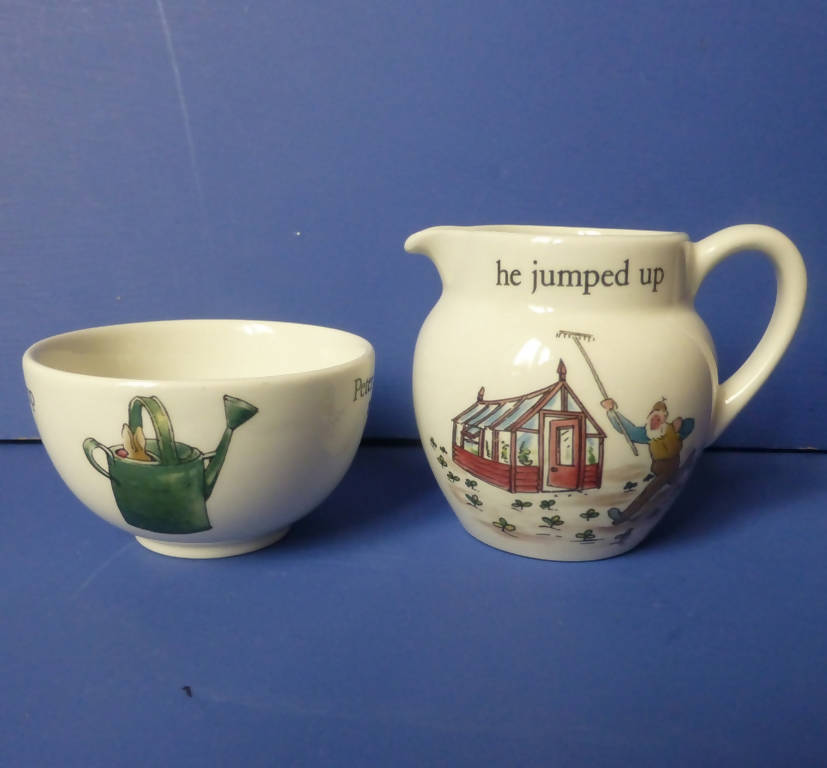 Wedgwood Beatrix Potter Peter Rabbit Miniature Sugar and Cream Jug