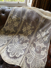 "Cottage Roses Arts and Crafts original lace panel new old stock 34""/54"""