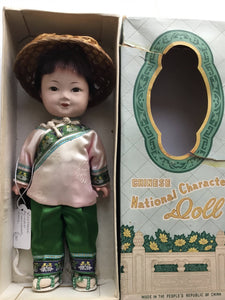 Boxed Vintage Chinese National Character Doll