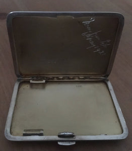 Asprey silver cigarette case, Chester 1918 Asprey & Co. Ltd. 3.2 troy ounces