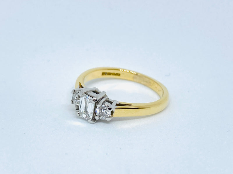 18ct Diamond 0.47cts Ring - Size J