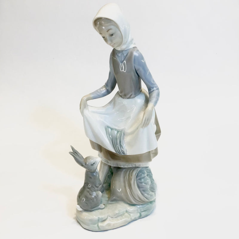 Lladro 'Girl With Rabbit'
