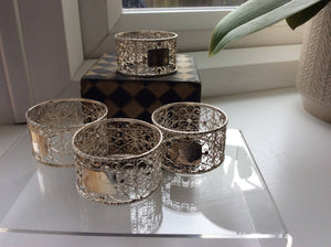 Filigree 4 Napkin Rings