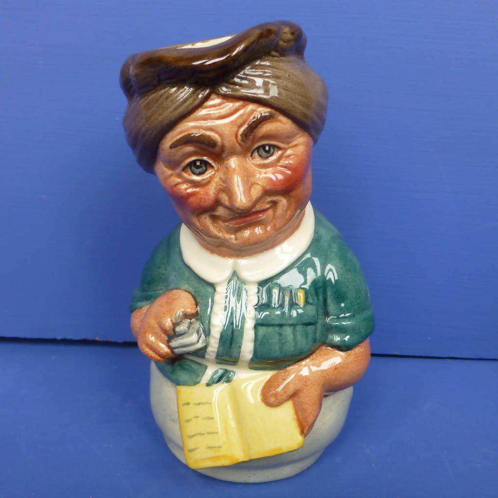 Royal Doulton Doultonville Toby Jug - Mrs Loan the Librarian Toby Jug D6715