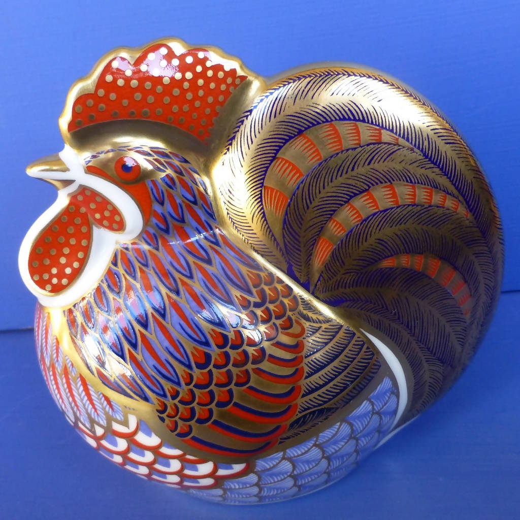 Royal Crown Derby Paperweight - Cockerel (Boxed)