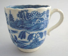 "Antique early Caughley ""Pagoda"" coffee cup, 1785"