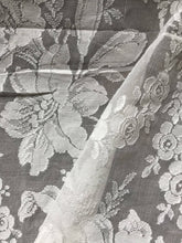 "Beautiful ivory cotton madras Lace Curtain Panelling to finish - 66 x78""Inches- Ready-made"