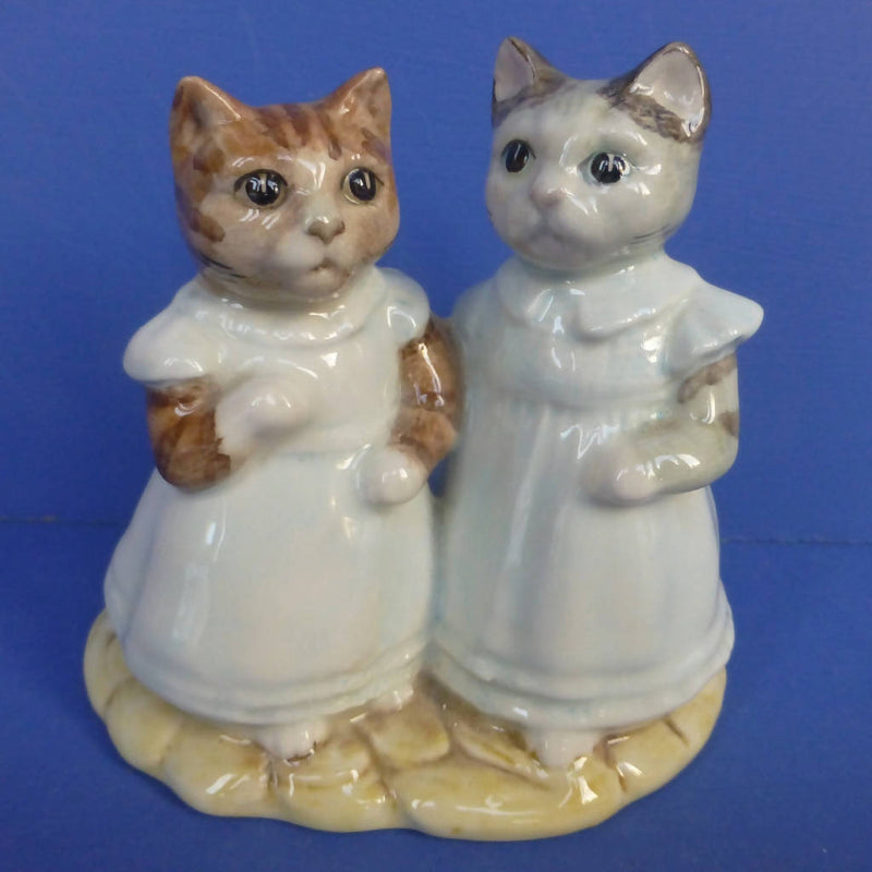 Royal Albert Beatrix Potter Figurine - Mittens and Moppet (Boxed)