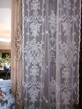 Highland Rose Olivia- Victorian Style Cream Cotton Lace Curtain Panel 130 x 320 cms