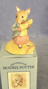 Beswick Beatrix Potter Figure Johnny Townmouse Eating Corn Boxed