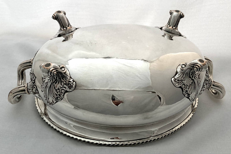 Georgian, George IV, Crested Old Sheffield Plate Soup Tureen. T & J Creswick, Sheffield, circa 1820.