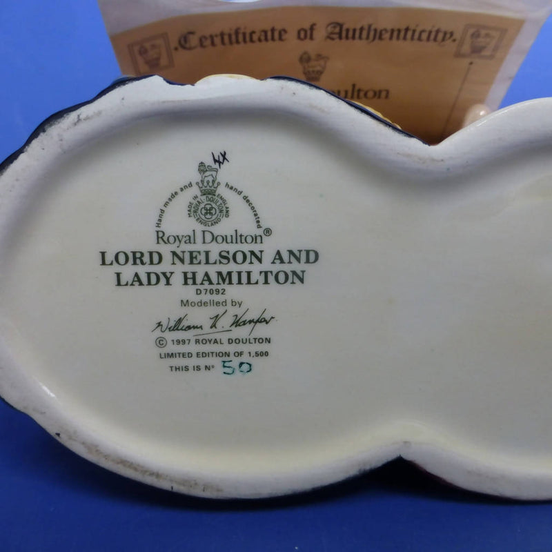 Royal Doulton Limited Edition Double Character Jug Lord Nelson and Lady Hamilton D7092