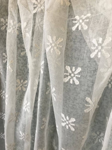 "Victorian Star Ivory cotton madras Lace to finish 68""/ 72"""