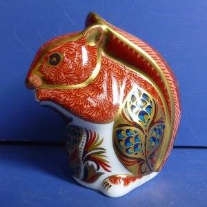 Royal Crown Derby Paperweight Red Squirrel (Boxed)