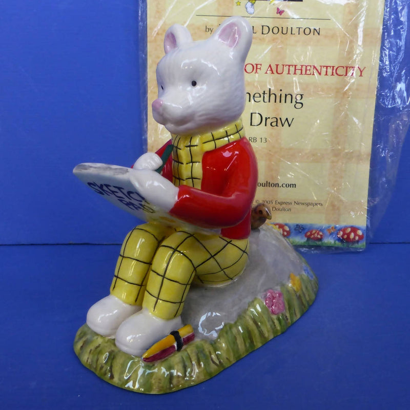 Royal Doulton Rupert Figurine Something To Draw (Boxed)