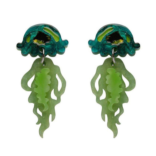 Erstwilder jellyfish earrings slippin Under