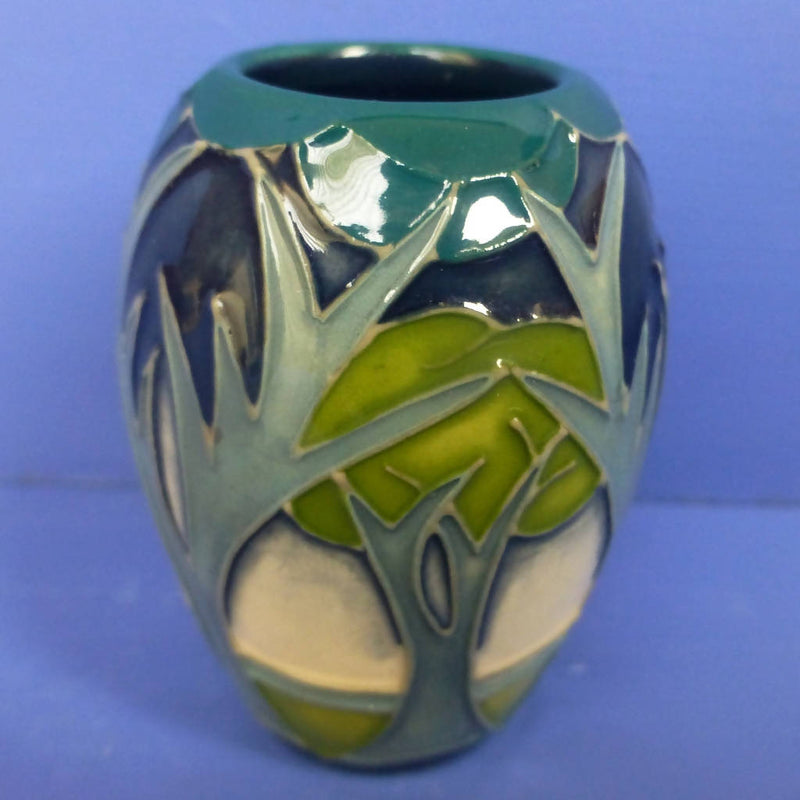 Moorcroft Miniature Vase Misty Moon By Rachel Bishop