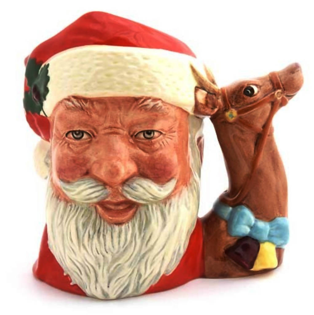 Royal Doulton Large Character Jug Santa Claus (Reindeer Handle)