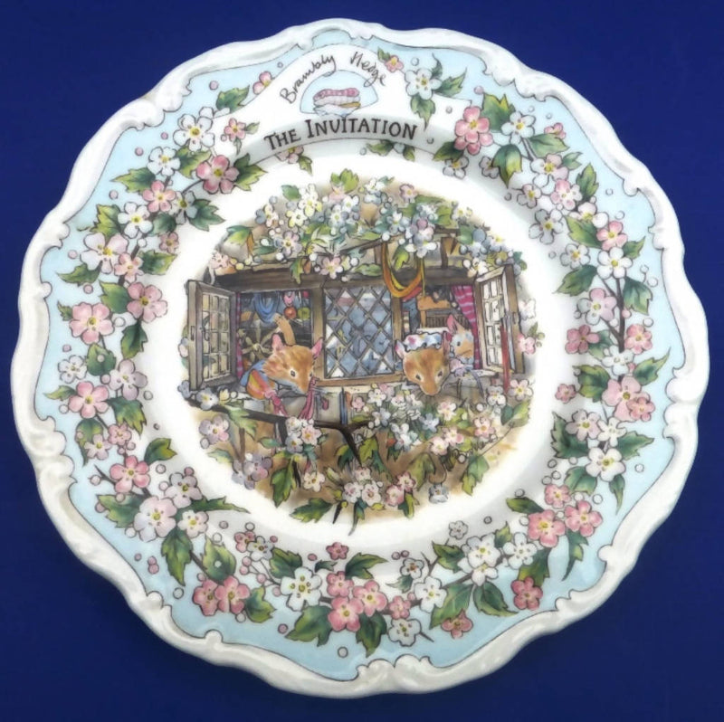 Royal Doulton Brambly Hedge Plate - The Invitation