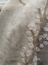 "Samara- stunning wool and cotton crewelwork design blossom lace panel 66""/94""ready to hang"