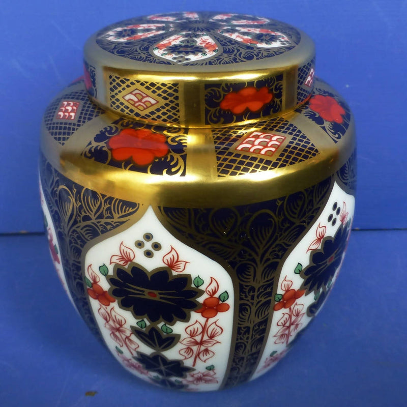 Royal Crown Derby Old Imari 1128 Solid Gold Band (SGB) Ginger Jar