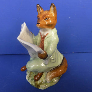 Royal Albert Beatrix Potter Figurine - Foxy Reading Country News - Boxed