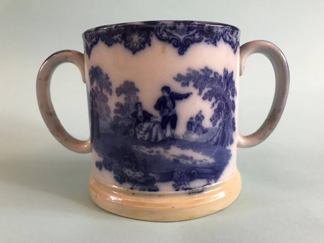 Flow Blue Royal Doulton Loving Cup