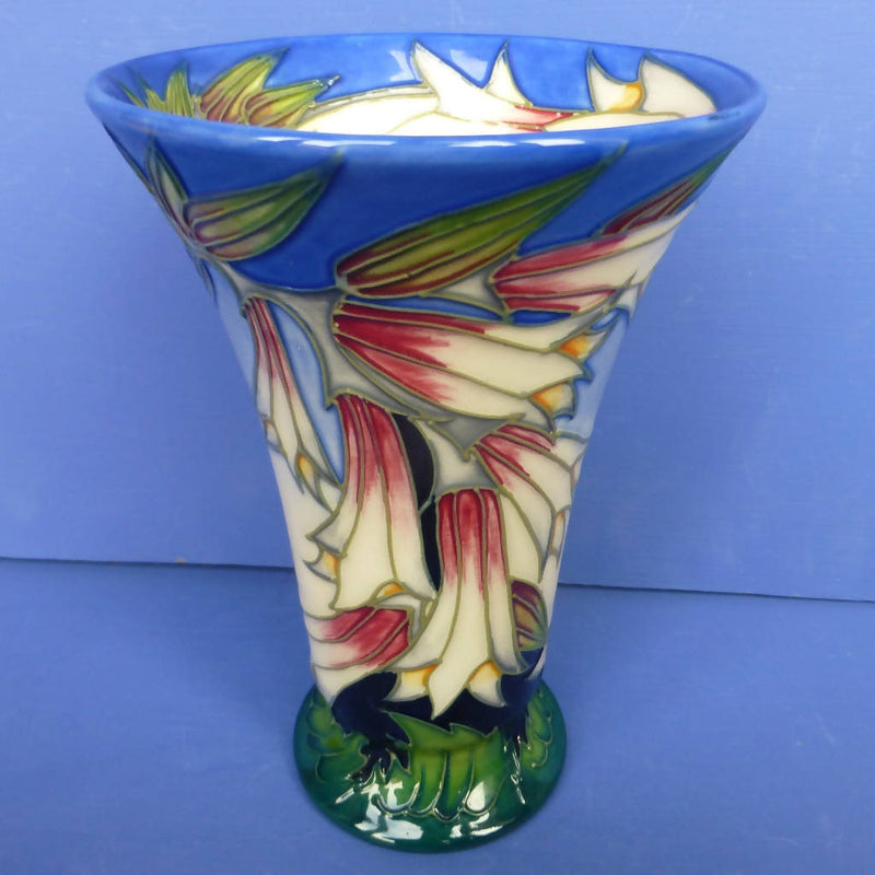 Moorcroft Vase Ivory Bells By Philip Gibson
