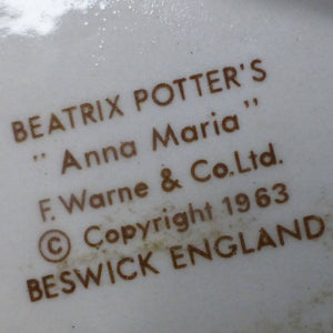 Beswick Beatrix Potter Figurine - Anna Maria BP3B