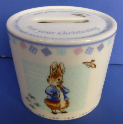 Wedgwood Peter Rabbit Christening Money Box (Boxed)