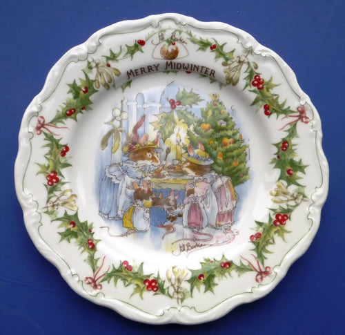 Royal Doulton Brambly Hedge Wall Plate Merry Midwinter