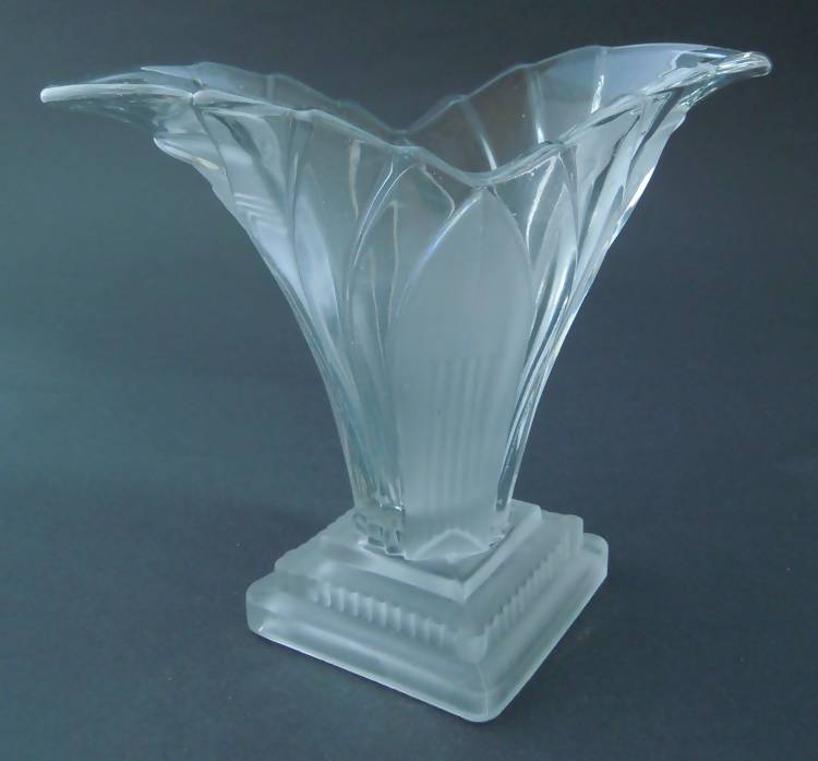 Walther & Sohne clear glass vase