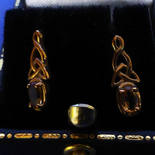 9ct Gold Citrine Earrings