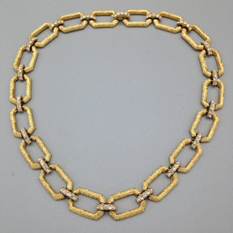 1960's gilt and diamanté necklace by Atwood and Sawyer