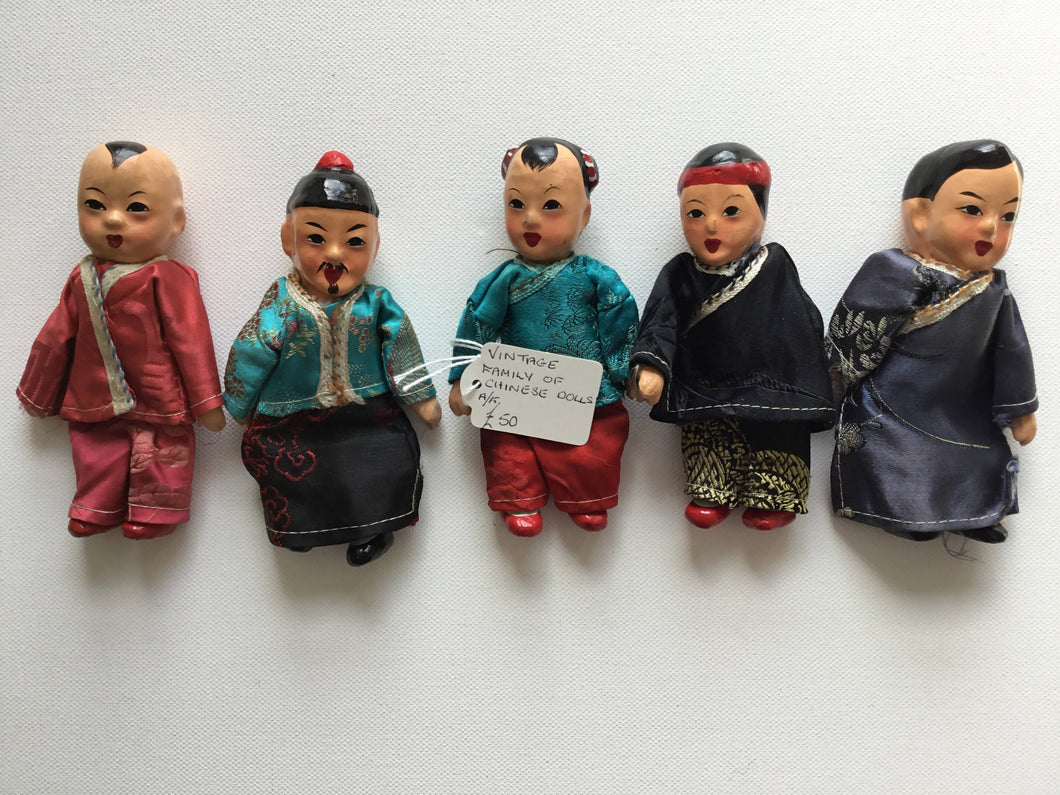 Vintage Family of Chinese Dolls.
