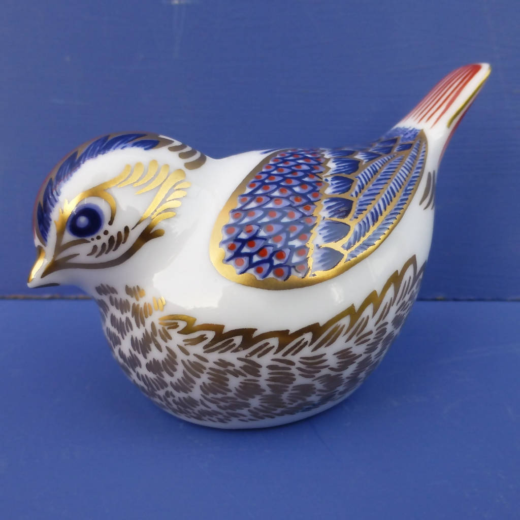 Royal Crown Derby Paperweight - Goldcrest (Boxed)