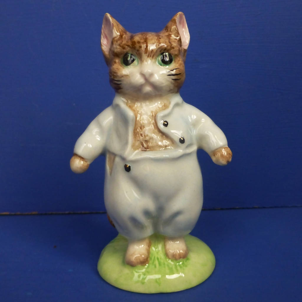 Beswick Beatrix Potter Figurine - Tom Kitten (Gold Buttons) - Boxed