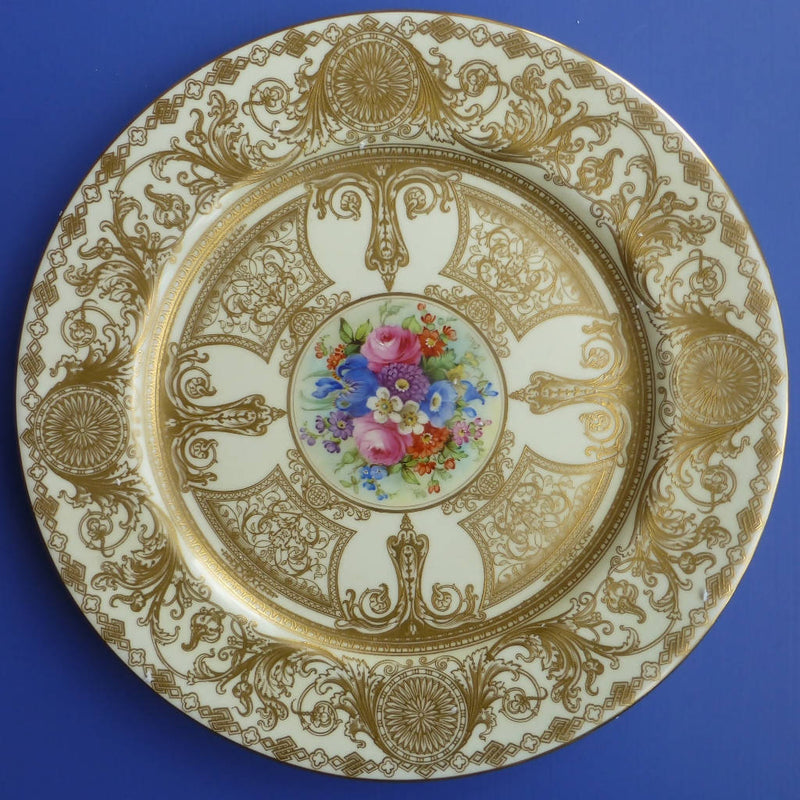 Royal Worcester Plate Signed By Henry Chair C1910