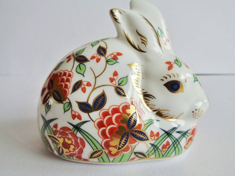 Royal Crown Derby Paperweight Meadow Rabbit
