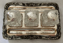 Georgian, George IV, Old Sheffield Plate Inkstand, circa 1820.
