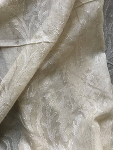 Antique Victorian Style cream Madras Cotton Lace Curtain Panel - 68 x 120 Inches readymade