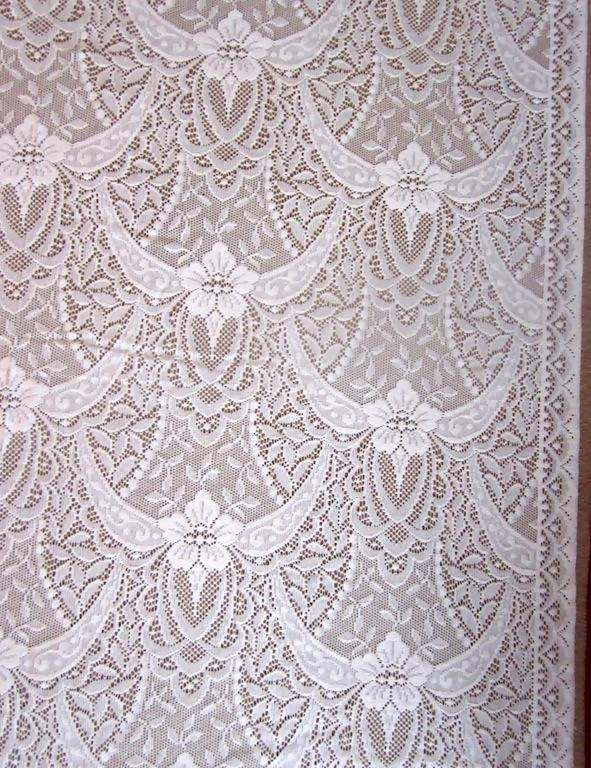 Victorianna Rose cotton white lace panelling available off the roll per metre 52