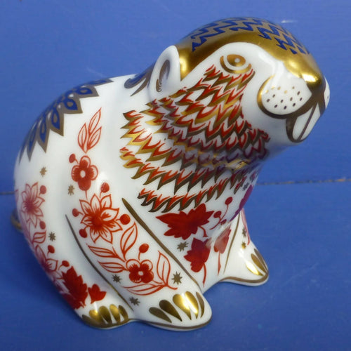 Royal Crown Derby Paperweight Beaver (Boxed)