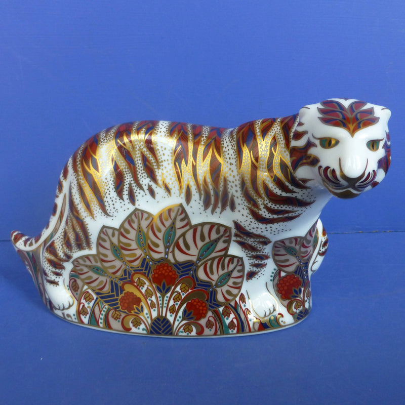 Royal Crown Derby Paperweight Bengal Tiger (Boxed)