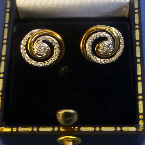 9ct Gold Diamond Earrings