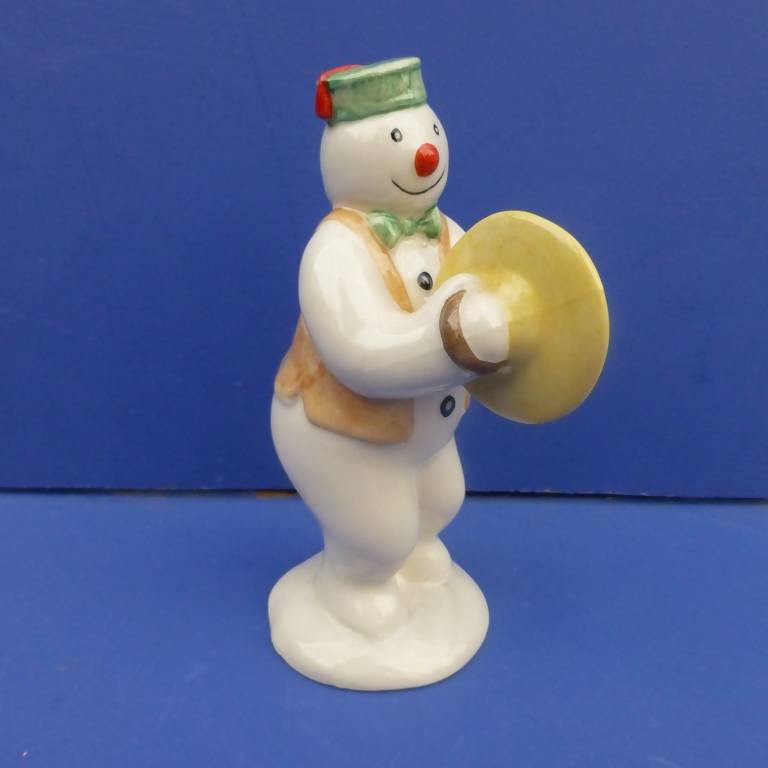 Royal Doulton Snowman Figurine - Cymbal Player Snowman DS14